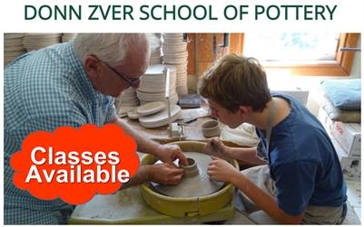 Donn Zver School of Pottery OPENS Sept. 2021