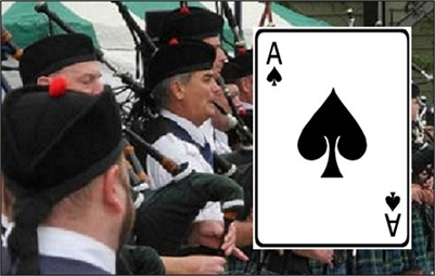 The Dragon Sports Bar and Paris Port Dover Pipe Band - CATCH THE ACE