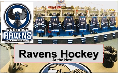 St. George Ravens Jr. A Hockey 2018 SEASON SCHEDULE