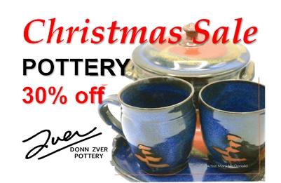 Donn Zver CHRISTMAS POTTERY SALE - 30% OFF