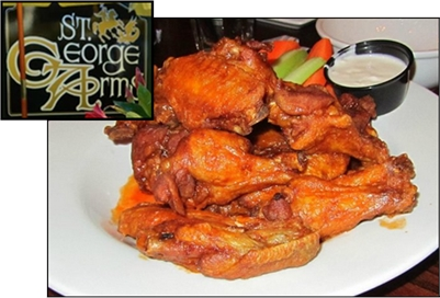 St. George Arms Pub has WINGS for Take-out or Dine-In!