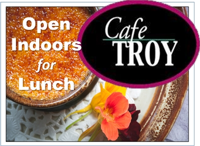 Open INDOORS for Lunch