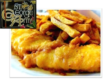 St. George Arms: HADDOCK or HALIBUT & Chips for Dine-In or Take-out