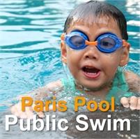 PUBLIC SWIM at the Paris Community Pool