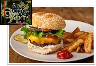 St. George Arms Pub has BURGERS for DINE-IN or TAKE OUT!