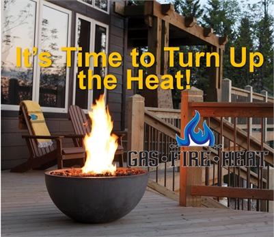 Gas Fire Heat - Outdoor Fire Tables add Heat to your Patio Lifestyle