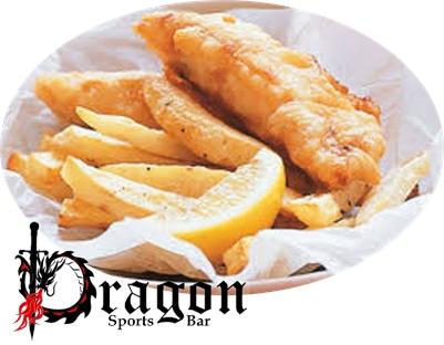 The Dragon Sports Bar: Fish & Chips, Thursdays