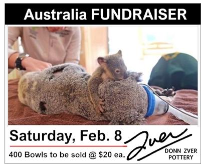 Donn Zver Pottery FUNDRAISER for the Animals of Australia