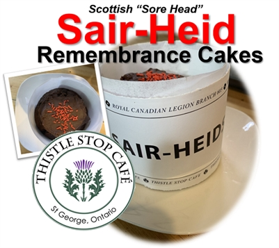Thistle Stop Cafe: SAIR HEID Remembrance Cakes for $6
