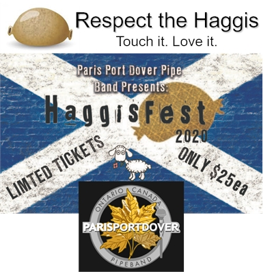 HAGGISFEST 2020 presented by Paris Port Dover Pipe Band