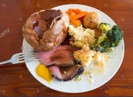 The Dragon Sports Bar: ROAST BEEF or CHICKEN DINNER on Sundays