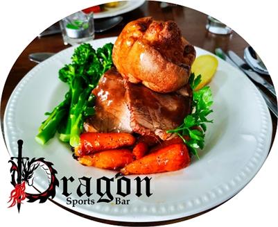 The Dragon Sports Bar: ROAST BEEF or CHICKEN DINNER on Sundays