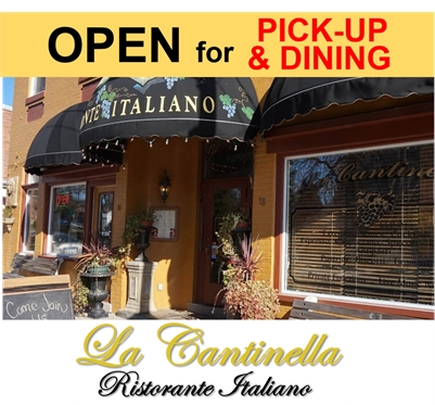 La Cantinella is NOW OPEN for PICKUP